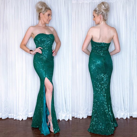 AmandaRSowards Dresses & Skirts - Green Sequin Pageant Prom Homecoming Formal Dress